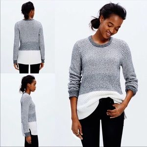 Madewell Black & White Checkpoint Sweater XS